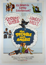 THE TROUBLE WITH ANGELS 1966 ORIGINAL MOVIE POSTER HAYLEY MILLS ROSALIND RUSSELL