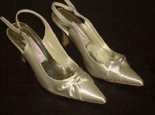 Chaussures de Mariée Hochzeitschuhe Satin avec Ruban Élégant Gr. 40 Ivoire Neuf
