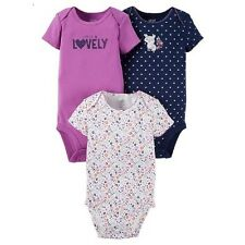 JUST ONE YOU INFANT GIRLS 3PK OF SHORT SLEEVE BODYSUITS~SIZE NEWBORN~NEW W/TAG