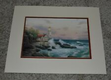 "Thomas Kincade Collector's 1999 ""Beacon of Hope"" Litho Matted 14"" x 11"" Print"