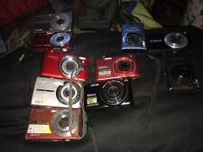 digital cameras 10 total with one case and one charger some work others untested