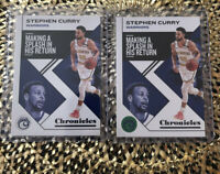 2019-20 Panini Chronicles Stephen Curry Lot Of 2 -One Green Parallel, One Base