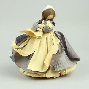 "Vintage Nan's Handcrafted 8"" Nurse Corn Husk Doll(Baby)"