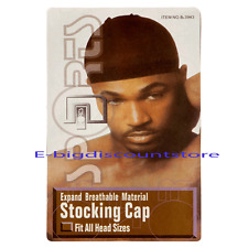 1Pk= 2 PCS Men's Stocking Sports Wave Caps Head Wrap Beanie Du Rag Black Fit all