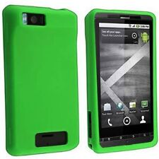 Hard Rubberized Case for Droid X MB810 - Green