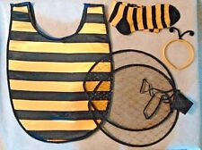Bumblebee Girls Costume Set Child Costume Bib Wings Socks Antenna 4 Pc Kit New