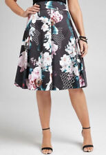 Cotton Floral Plus Size Skirts for Women