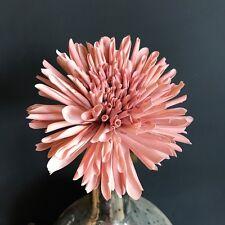 Light Pink Faux Silk Dahlia. Artificial Dusky Pink Spring Flowers