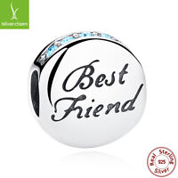New Fashion 925 Sterling Silver Best Friends Beads Charms Fit Original Bracelets