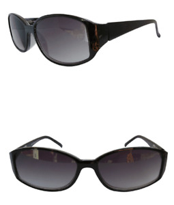 Ladies Sun Readers Black Frame Designer Tinted Reading Sunglasses UV Protection