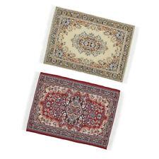 Doll House Carpet Dollhouse Miniatures 1:12 Accessories Mini oval carpe/_jn