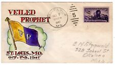 "#950 on E.J. Henriques Hand Painted - ""Veiled Prophet"" St Louis MO 1947"