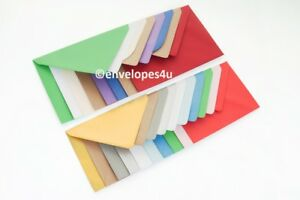 High Quality Coloured C6 114x162mm Envelopes for A6 Cards 100gsm EUROPE SPECIAL