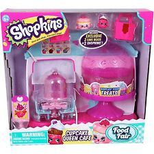 New Shopkins Cupcake Queen Cafe Food Fair 2 Exclusive 2 Cake Boxes Bakery