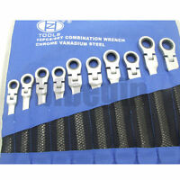 New Professional Flexible Combination Spanners  Wrench Tool 8mm-19mm set