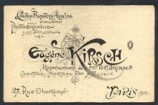 Eugène KIRSCH carte de visite ART NOUVEAU photographie carte à jouer Grimaud
