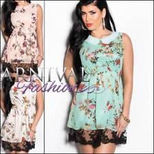 Regular Size Floral Polyester Sundresses for Women