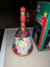 Vintage Dainty Handpainted Porcelain Santa Holiday Bell Holiday Traditions