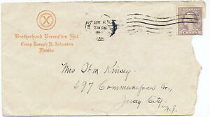 US ca 1918 Advertising Army Mail Cover Camp Joseph Johnston Jacksonville FL
