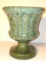 Haeger Pottery Marbled Green Planter Vase Retro Colors Vintage