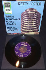 "Ketty Lester - 'When A Man Loves A Woman' / 1966 / Single / 7"" / Germany / RARE"