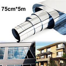 75cmX5m Window Tint Film Silver Grey Mirror Privacy Tinting Reflective 40% Home