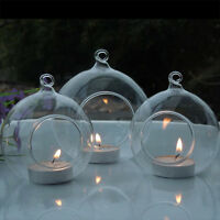 European Designed Hanging Glass Candle Holder Home Decor Party Candlestick