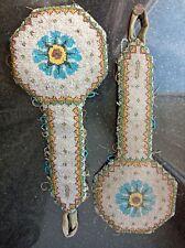 Épaulettes travail perlé costume ancien 18-19eme