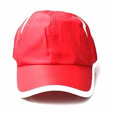 Men's Red Soft Baseball Cap with White Trim and Mesh Detail