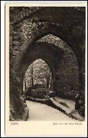 Oybin Sachsen Ansichtskarte ~1920/30 Blick durch das obere Burgtor ungelaufen
