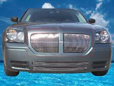 fit:05-07 Dodge Magnum Upper Billet Vertical Grille Overlay Grill 2pcs