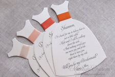 Will you be my Bridesmaid Invitation Cards, Wedding Party Invitation Cards Coral