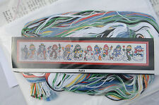 EXTREMELY RARE VINTAGE Design Works SNOWMAN ROW Counted Cross Stitch 5453 Sealed
