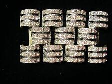 Glitzy Women'S Vintage High Fashion Rhinestone Beltbuckle Pave Paste Rhodium Plt