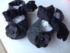 Mary Jane Charcoal Gray Infant Shoes