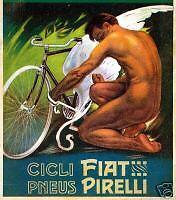 Plinio Codognato -FIAT-PIRELLI-ciclo-pneus-nudo-ali-Verona 1912