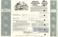 Asbestos Corporation Limited > Canada company stock certificate share