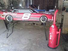 BUDWEISER DALE EARNHARDT 8ft REPLICA 1:2 SCALE RACE CAR + FUEL CAN SMOKER NASCAR