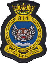 814 NAS Naval Air Squadron Royal Navy FAA Crest MOD Embroidered Patch