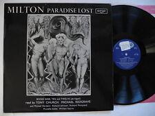 Spoken word - English Poets LP MILTON Paradise Lost book nine ten twelve