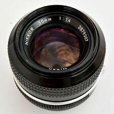 Nikkor 50mm f/1.4 AI Converted Super Sharp MF Lens. Exc++. See Test Images