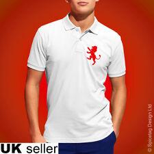 England Lion Polo Shirt White Football Tshirt Soccer Rugby Top English 2019