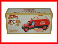 1930's Collectible Coca Cola Brand Limited Edition Tin Delivery Truck By Xonex.