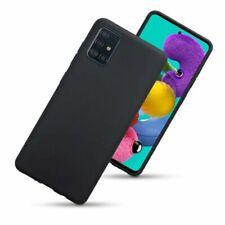 Samsung A51,A71,A41,A21s Case Ultra Thin Shockproof Silicone Matt Black Gel Case