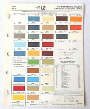 1978 CHEVROLET TRUCK AND GMC PPG COMMERCIAL COLOR PAINT CHIP CHART ORIGINAL