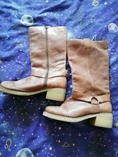 Brown Distressed Boots 6 By Cherokee