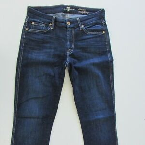7 For All Mankind Kimmie Jeans Size W28 L34 Womens Dark Blue Straight Low Rise