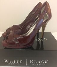 White House Black Market Leather Pump Heels Size 9 M