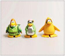 "lot of 3 Disney Club Penguin pvc Figure 2.5""  high #F1"