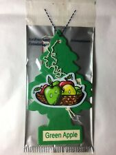 6 GREEN APPLE Scented Little Trees Car Air Fresheners Individually Sealed Cello